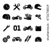 motorcycle race vector icons.... | Shutterstock .eps vector #473278819