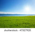 Caribbean Sea And Field Of...