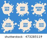 milk logo and labels designs... | Shutterstock .eps vector #473285119