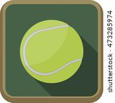 tennis ball icon. vector flat... | Shutterstock .eps vector #473285974
