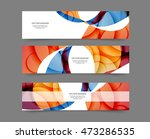 set of web banner templates for ... | Shutterstock .eps vector #473286535