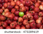 group of cherries forming a... | Shutterstock . vector #473289619