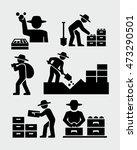 farmers harvesting icons   Shutterstock .eps vector #473290501