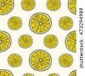 lemon seamless background.... | Shutterstock .eps vector #473294989