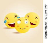 smiley faces group of vector... | Shutterstock .eps vector #473295799