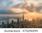 famed skyline of hong kong from ... | Shutterstock . vector #473296594