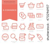 flat thin line icons set of... | Shutterstock .eps vector #473296957