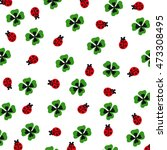 shamrock and ladybugs | Shutterstock .eps vector #473308495