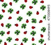 shamrock and ladybugs | Shutterstock .eps vector #473308495