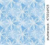 winter christmas seamless... | Shutterstock . vector #473316925