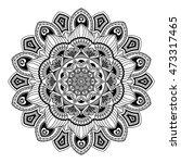 mandala. black and white. round ... | Shutterstock .eps vector #473317465