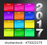 colorful calendar for 2017.... | Shutterstock .eps vector #473322175