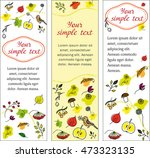 set autumn banners. vertical... | Shutterstock .eps vector #473323135