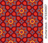 sindhi traditional pattern... | Shutterstock .eps vector #473334007