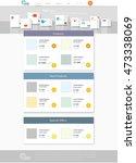 vector website template....