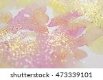 Abstract Watercolor Glittery...
