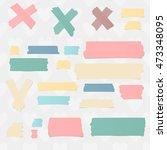 colorful horizontal masking ... | Shutterstock .eps vector #473348095