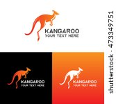 Kangaroo Logo  Icon Vector...