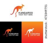 kangaroo logo  icon vector... | Shutterstock .eps vector #473349751