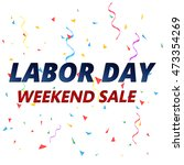 labor day sale vector... | Shutterstock .eps vector #473354269