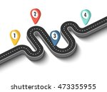 road trip and journey route.... | Shutterstock .eps vector #473355955