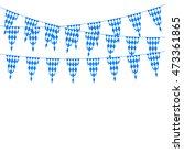 oktoberfest bunting festoon in... | Shutterstock . vector #473361865
