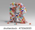 3d rendering of colorful... | Shutterstock . vector #473363035