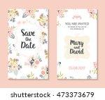 wedding set. romantic vector... | Shutterstock .eps vector #473373679