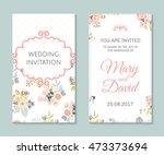 wedding set. romantic vector... | Shutterstock .eps vector #473373694