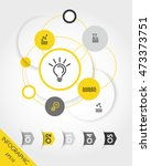 yellow infographic set with... | Shutterstock .eps vector #473373751