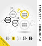 five infographic balls with... | Shutterstock .eps vector #473373811