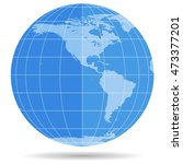 globe earth symbol flat icon... | Shutterstock .eps vector #473377201