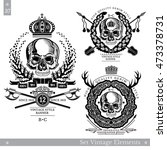 skull front view without a... | Shutterstock .eps vector #473378731