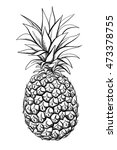 pineapple fruit. vector black... | Shutterstock .eps vector #473378755