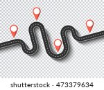 winding road on a transparent...   Shutterstock .eps vector #473379634