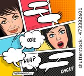 comic speech bubbles on a comic ... | Shutterstock .eps vector #473382601