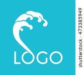tsunami wave abstract... | Shutterstock .eps vector #473385949