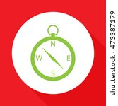 vector compass icon. | Shutterstock .eps vector #473387179