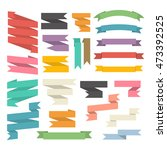 ribbons set isolated on a white ... | Shutterstock . vector #473392525