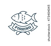 fishing vector logo design... | Shutterstock .eps vector #473404045