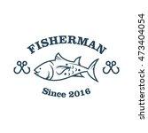 fishing vector logo design...   Shutterstock .eps vector #473404054