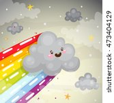 cute quick dark cloud with a...   Shutterstock .eps vector #473404129