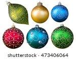 Christmas Balls. New Year's...