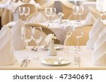 wedding table set for fun dining | Shutterstock . vector #47340691