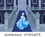 illustration of cinderella runs ... | Shutterstock .eps vector #473414275