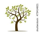 shape of green tree. vector... | Shutterstock .eps vector #473414821