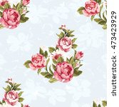 seamless floral pattern with... | Shutterstock .eps vector #473423929