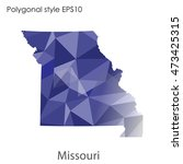 missouri state map in geometric ... | Shutterstock .eps vector #473425315