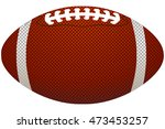 american football ball  | Shutterstock .eps vector #473453257