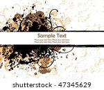 black grunge with orange... | Shutterstock .eps vector #47345629